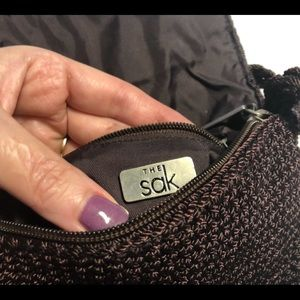 The Sak Plum Colored Crochet Bag Purse EUC